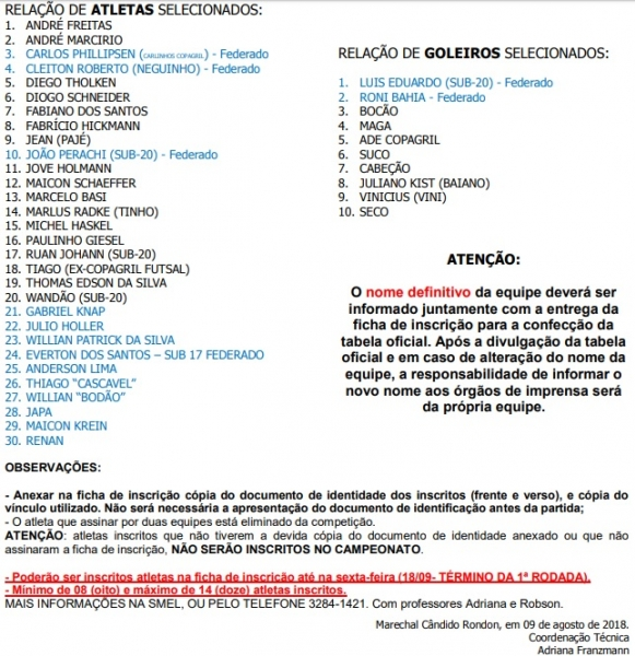 Olho na Bola - Campeonato Municipal de Futsal 2018  NotíciasEquipes ... b8699a5dfa9aa
